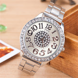 Ladies Fashion Silver Rose Gold Watch Women Luxury Brand Quartz Wristwatch With Rhinestone Steel Clock Female Horloge