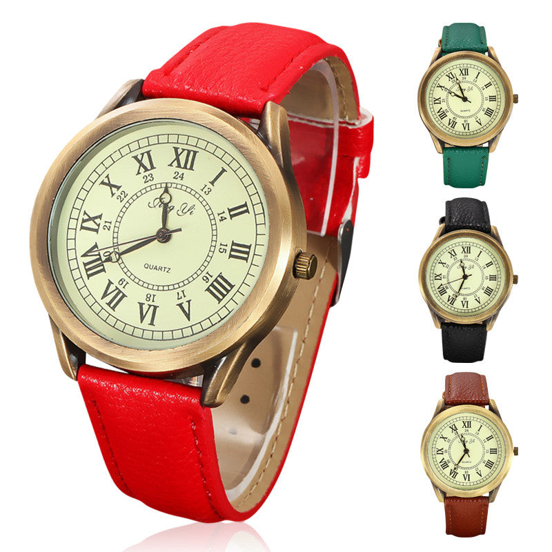 Ladies Quartz Relogio Feminino Clock Female Watches Women Fashion Retro Roman Numerals Watch Woman Dress Wristwatches