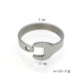 Latest Design Ring Hot Sale Full Size Unisex 316L Titanium Stainless steel Punk Biker Wrench Man And Women Rings jewelry
