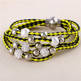Lovely big European and American fashion leather bracelet female jewelry simple temperament tide