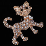 Luxurious Gold Full Shining Rhinestone vintage Tiger Brooch Wedding Gift Fine and Fashion Jewelry brooches for women