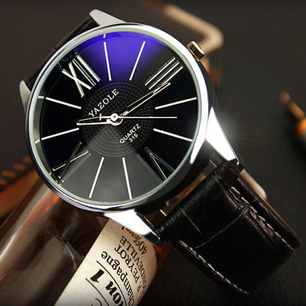 Luxury Brand Leather Watches Men Waterproof Fashion Casual Sports Quartz Watch Dress Business Wrist Watch Hour for Men Male