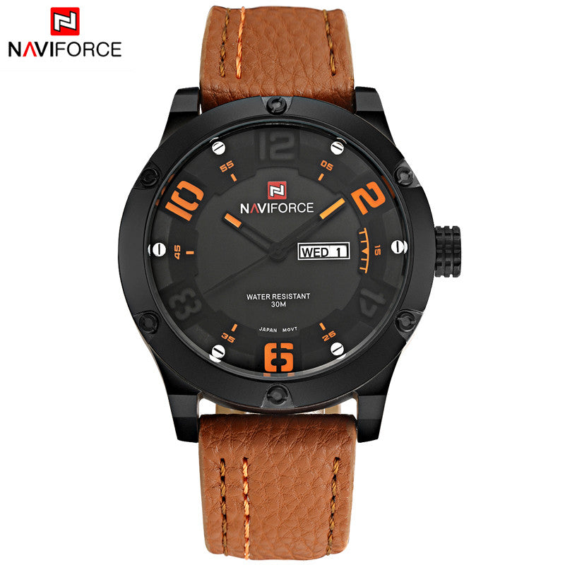 Luxury Brand Men Sports Watches Men's Quartz Date Clock Fashion Casual Leather Strap Army Military Wrist Watch Male Relogio
