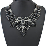 Luxury Color Crystal Bridal Collar Necklace S & Pendants Fashion Women Rhinestone Wedding Maxi Statement Necklace