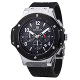 MEGIR Chronograph 6 Hands 24 Hours Function Men Sport Watch Silicone Luxury Watch Men Top Brand Military Watch