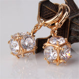 Fashion Dangle Earring for Women/Girls Earrings Fashion Silver/ Gold Plated Wedding Jewelry White Zircon Earring