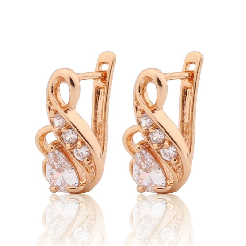 Luxury Brand Fashion Earring for Women Zirconia Crystal Jewelry Designer Earrings