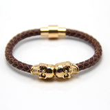 Man Women Bracelet for Man Women Jewelry Punk Genuine Leather Skull Bracelet for Man Women