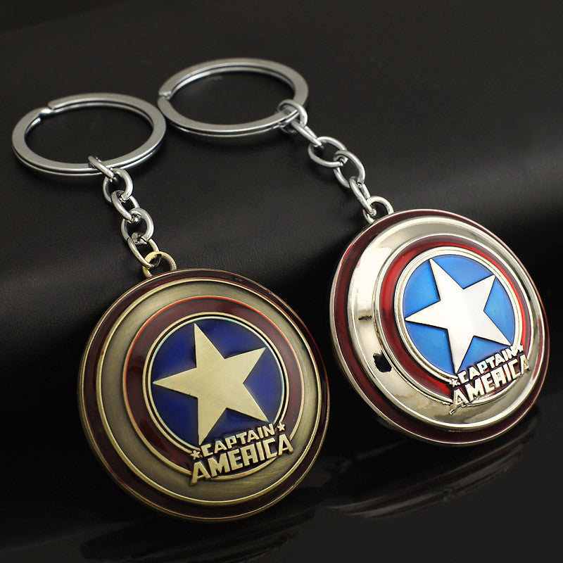 Marvel Comics Super Hero Captain America Avengers KeyRings Keychains Holder Purse Bag Buckle Accessories Gift Key Chains