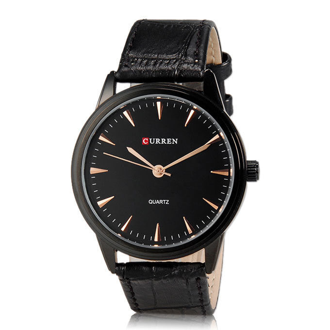 Men's Quartz watch Casual watches Men Clock Gold Simple Style Mens WristWatch CURREN Brand Luxury Watch