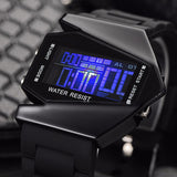 Men Sport Watch Colorful Digital LED Watches Pilot Aviator Military Wristwatch Male Clock Fashion LED Watch