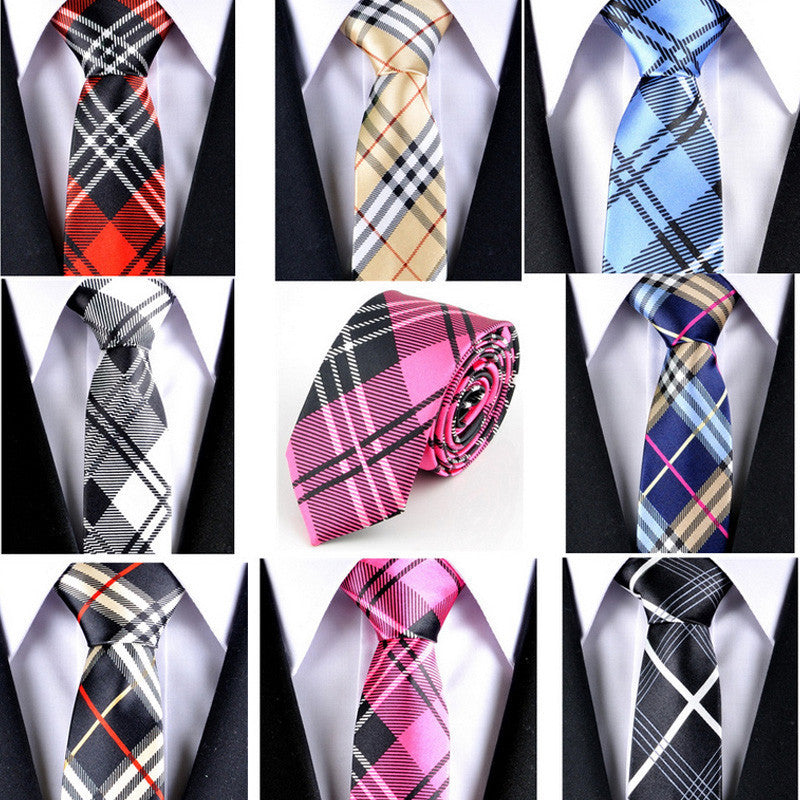 Men Tie 8 Color Striped Narrow Neckties Men's Business Gift Tie