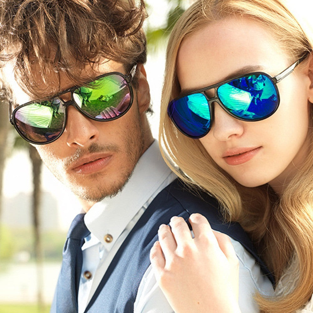 Men's Colorful Classical Frog Aviator Sunglasses Unisex Oculos De Sol Feminino Vintage Polarized Sunglasses Women