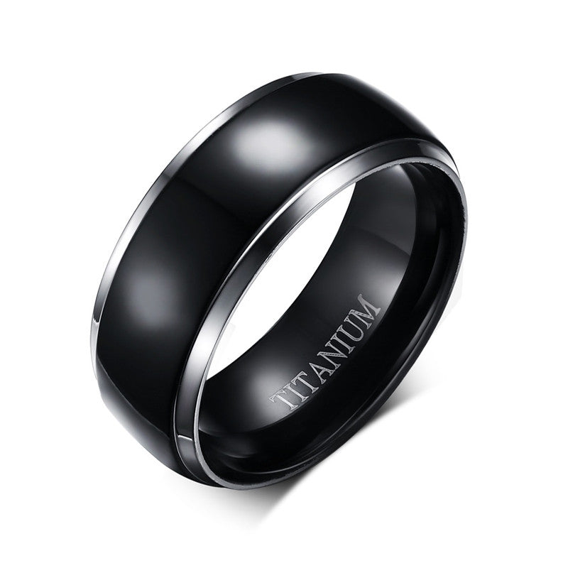 Mens Titanium Rings Black Men Engagement Wedding Rings Jewelry USA Size 100% Titanium Carbide