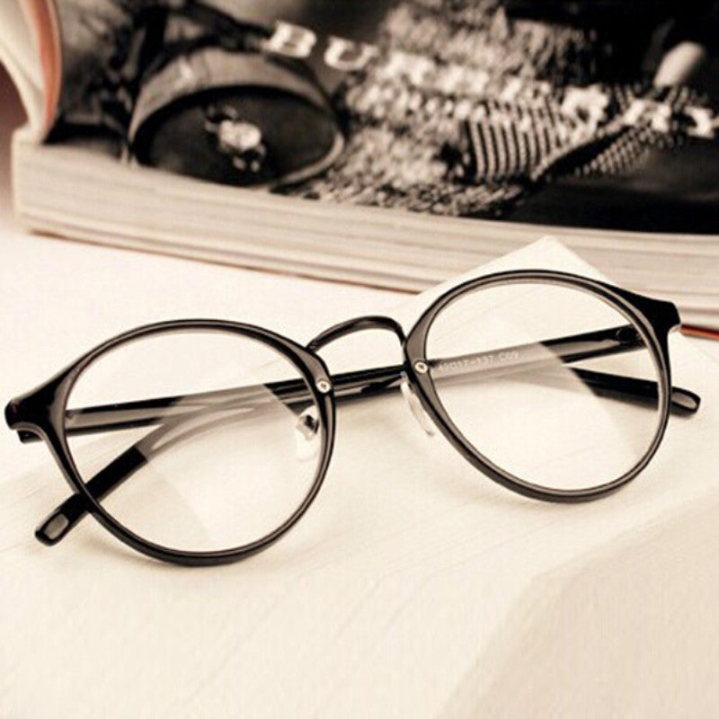 Mens Women Nerd Glasses Clear Lens Eyewear Unisex Retro Eyeglasses