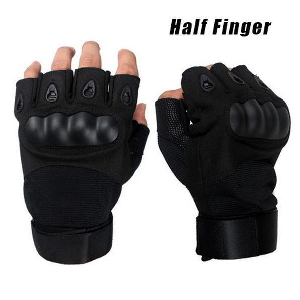 Military Gloves Brand New Outdoor Sports Army Half Finger Motorcycle Cycling Carbon Leather Gloves