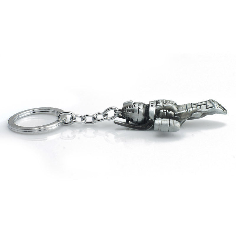 Movie Star Wars Firefly Serenity Replica HD Space Ship Metal KeyRing Keychain Purse Buckle Film Surrounding Key Chain