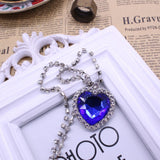 Movie Titanic Heart Of The Ocean Necklace Crystal Pendant Necklaces & Pendants Women Jewelry collares