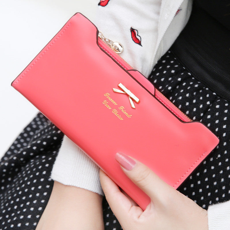 New arrival leather women wallets woman messenger bag women's design wallet change purse for women