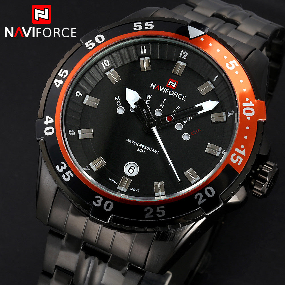 AVIFORCE Full steel Watch Men Quartz Military Waterproof Watch Mens Watches Top Brand Luxury Casual Watches