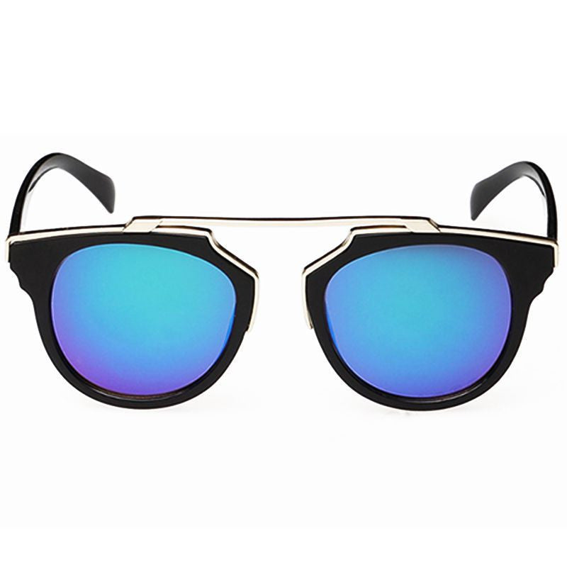 NEW Sunglasses Vintage Cat Eye Style Women UV Glasses Fashion Colorful Reflective Film Anti-Dazzle Sun Glasses
