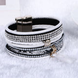 NEW Various fashion styles magnetic leather bracelet women handmade bangles friendship jewelry gift items