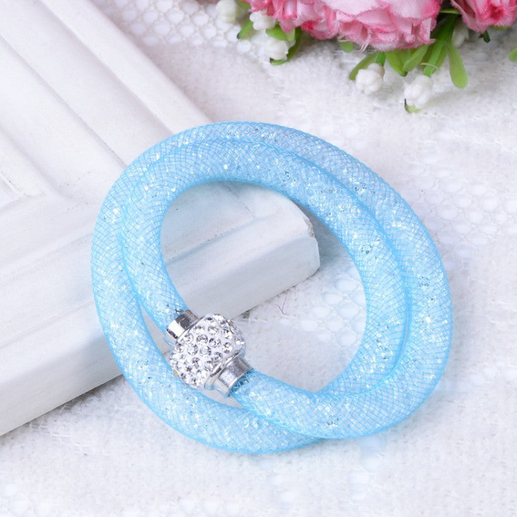 NEW Fashion Jewelry Handmade Stardust Crystal Rhinestone Bracelets Women Charm Bangle