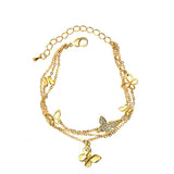 Neoglory Austrian Butterfly Multi Layered Bangles & Bracelets Teen Girl Charms Bridesmaid Statement Fashion Jewelry
