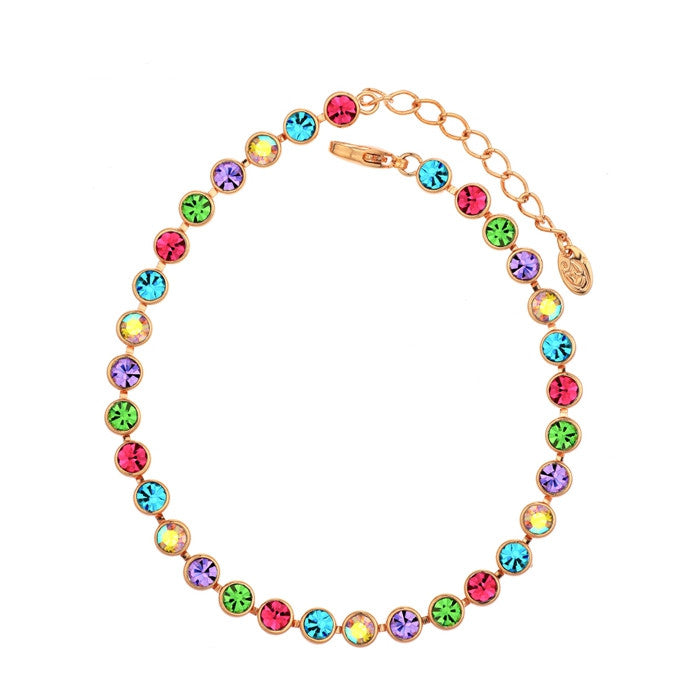 Neoglory Multi Colorful Beads Bangles & Bracelets Fashion Statement Jewelry Brand Girl Mother Gift