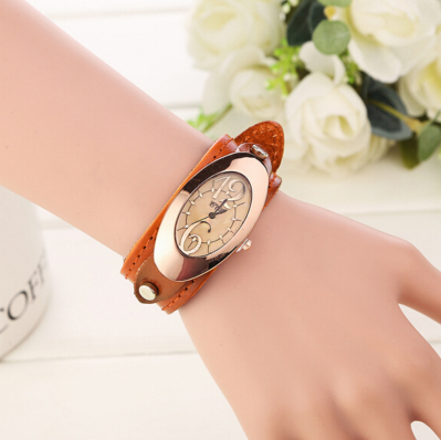 New Fashion women dress watches quartz watches casual Clock wristwatch genuine leather strap watches montre femme