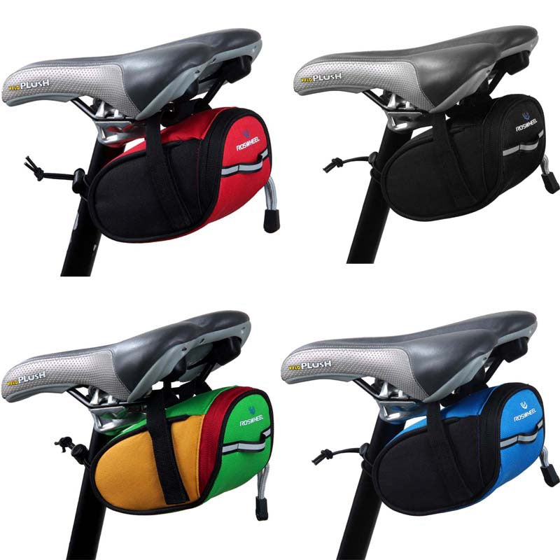 New Arrival Roswheel Outdoor Cycling Mountain Bike Bicycle Saddle Bag Back Seat Tail Pouch Package