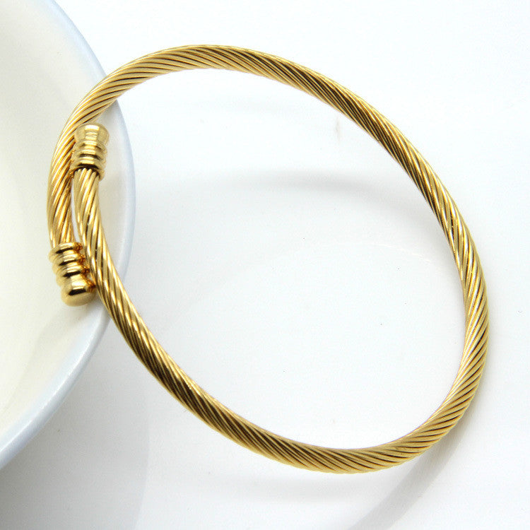 New Arrivals Simple Elegance Fashion Jewelry Bracelets & Bangles 5-color Stainless Steel Bracelets For Women