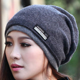 New Arrive High Quality Double Thick Beanie Hats for Women and Men Wool Knitted Cap Warm Winter Hats Scarves Wraps