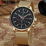 New CURREN Watches Luxury Brand Men Watch Full Steel Fashion Quartz-Watch Casual Male Sports Wristwatch Date Clock Relojes
