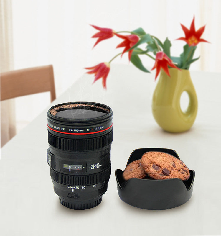 Caniam Camera Lens Cup 24-105mm 1:1 Scale Plastic Milk Beer Coffee Tea Cup Mug 400ML Creative Cups and Mugs