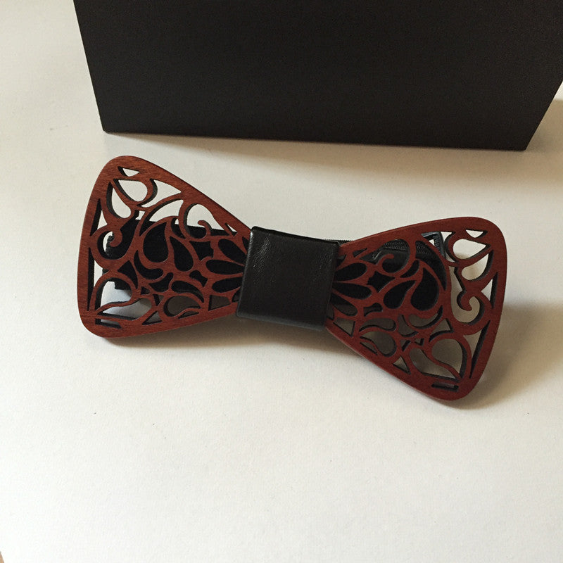 New Classic Hollow Wooden bow tie men BALCK bowtie wood bow ties