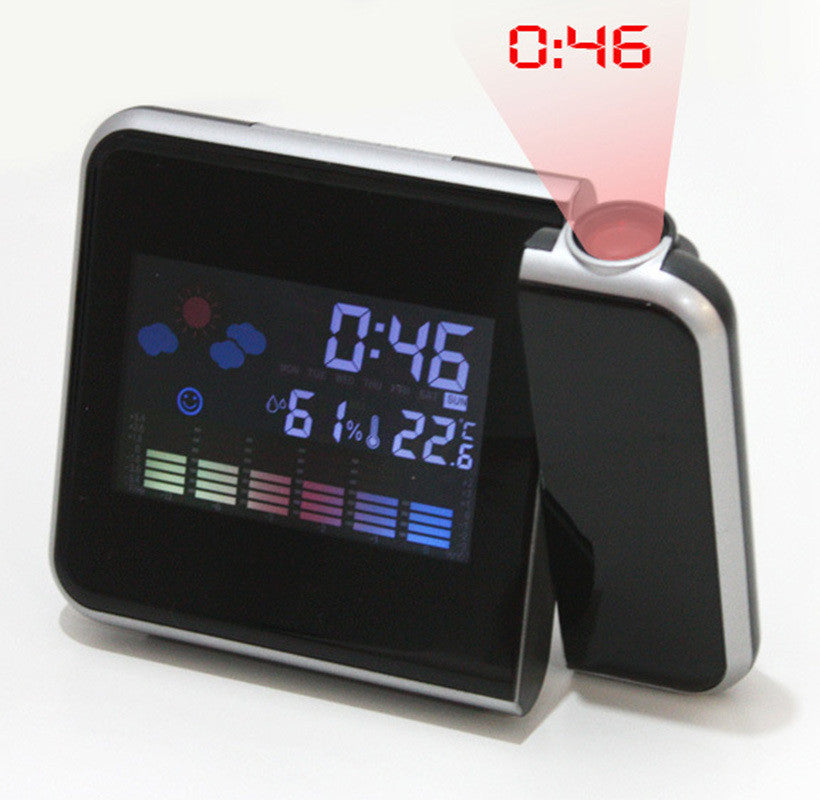 New Color LED Backlight Digital Weather Projection Alarm Clock Weather Forecast Station