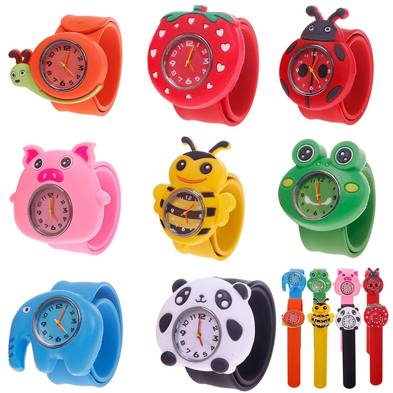 Cute Cartoon Unisex Children Kid Quartz Sports Bendable Rubber Strap Wrist Watch