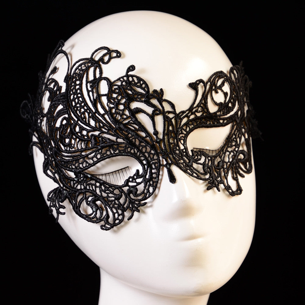 Women Lace Face Eye Black Mask Hollow Fancy Dress Venetian Carnival