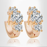 New Design hot Fashion Luxury gold Color Austrian crystal earrings zircon Statement jewelry for women