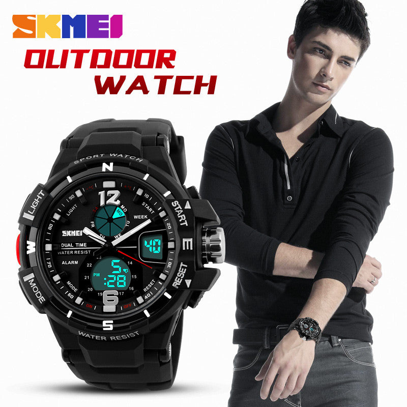 New Dual Time Men's Wristwatches Fashion Sports Watch Military Army Relogio Watches Men Luxury Brand Quartz Digital Clock Man