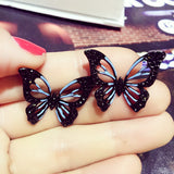 New Fashion Big Butterfly Stud Earrings For Women Bijoux Cute Party Jewelry