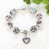 New Fashion Bracelet DIY Bead Bracelets Charm Bracelets for Women Silver Plated Chain Bracelet Beads Jewelry Best Gfit