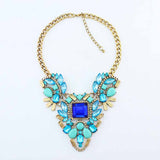 New Fashion Brand luxury Crystal Necklaces & Pendants Waterdrop Resin Vintage choker statement necklace women jewelry