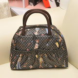New Fashion Cartoon Lady Women Handbags lunch box bag Character Animal prints Candy color bags Polyester