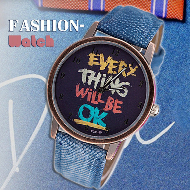 Fabric band Watch Men women quartz watches with cartoon watch Fashion female Wristwatches Woman watches