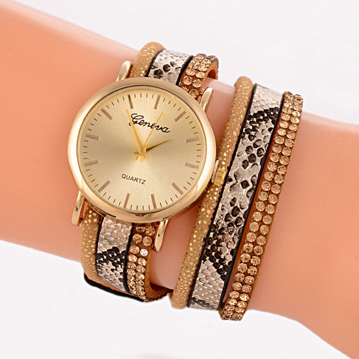 New Fashion Snake Grain Bracelet Women Watch Women Wristwatch Ladies Quartz Watch Relogio Feminino Montre Relojes Mujer Horloges