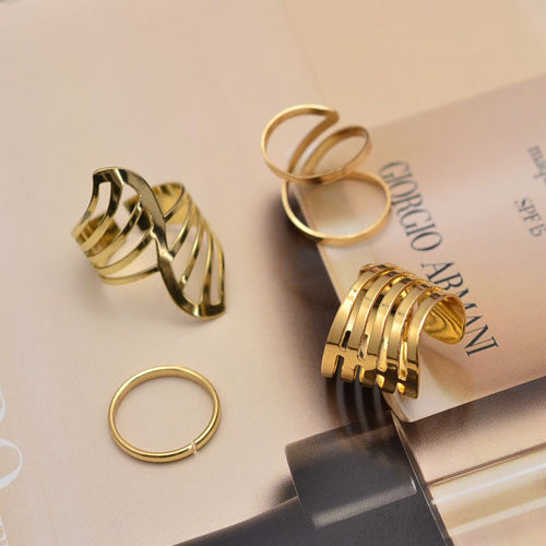 New Fashion jewelry hollow finger ring set nice gift for women girl lovers' gift 1set=4pcs