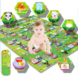 New Play Mat Baby Educational Crawl Pad Play+Learning+Safety Mats Kids Climb Blanket 90x100CM Game Carpet