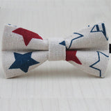 Cute Baby Bow tie Boys Girls Bowtie Kids Bow Ties Cotton Linen Multi Pattern Pyramid /Sailboat /Flower /Star Bowties